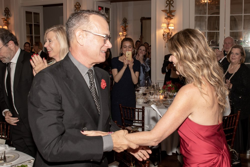 Tom Hanks, Rita Wilson at Annual Gala Dinner of American Friends of Blérancourt  at Private Club in New York on 11/09/2018 (photo by Annie Watt Agency / Sipa USA