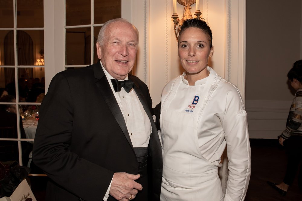 George Sape, Chef Laëtitia Rouabah at Annual Gala Dinner of American Friends of Blérancourt  at Private Club in New York on 11/09/2018 (photo by Annie Watt Agency / Sipa US