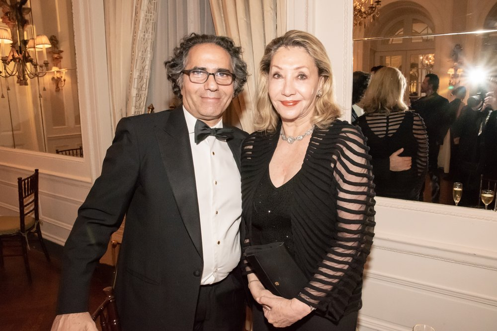 Benny Tabatabai, Susan Gutfreund at Annual Gala Dinner of American Friends of Blérancourt  at Private Club in New York on 11/09/2018 (photo by Annie Watt Agency / Sipa USA