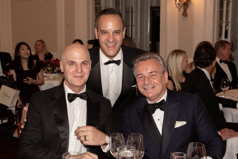 Jerry Erickson, Benigno Aguilar, Franck Laverdin at Annual Gala Dinner of American Friends of Blérancourt  at Private Club in New York on 11/09/2018 (photo by Annie Watt Agency / Sipa USA