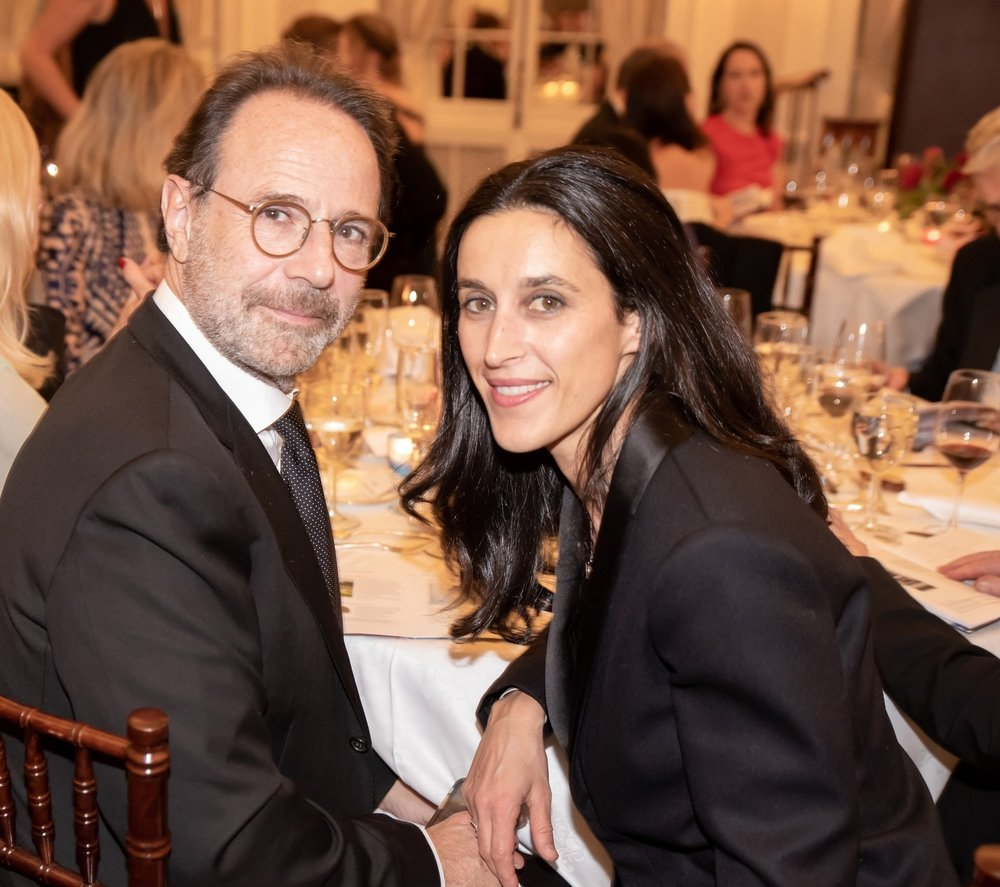 Marc Levy, Pauline Levesque at Annual Gala Dinner of American Friends of Blérancourt  at Private Club in New York on 11/09/2018 (photo by Annie Watt Agency / Sipa USA