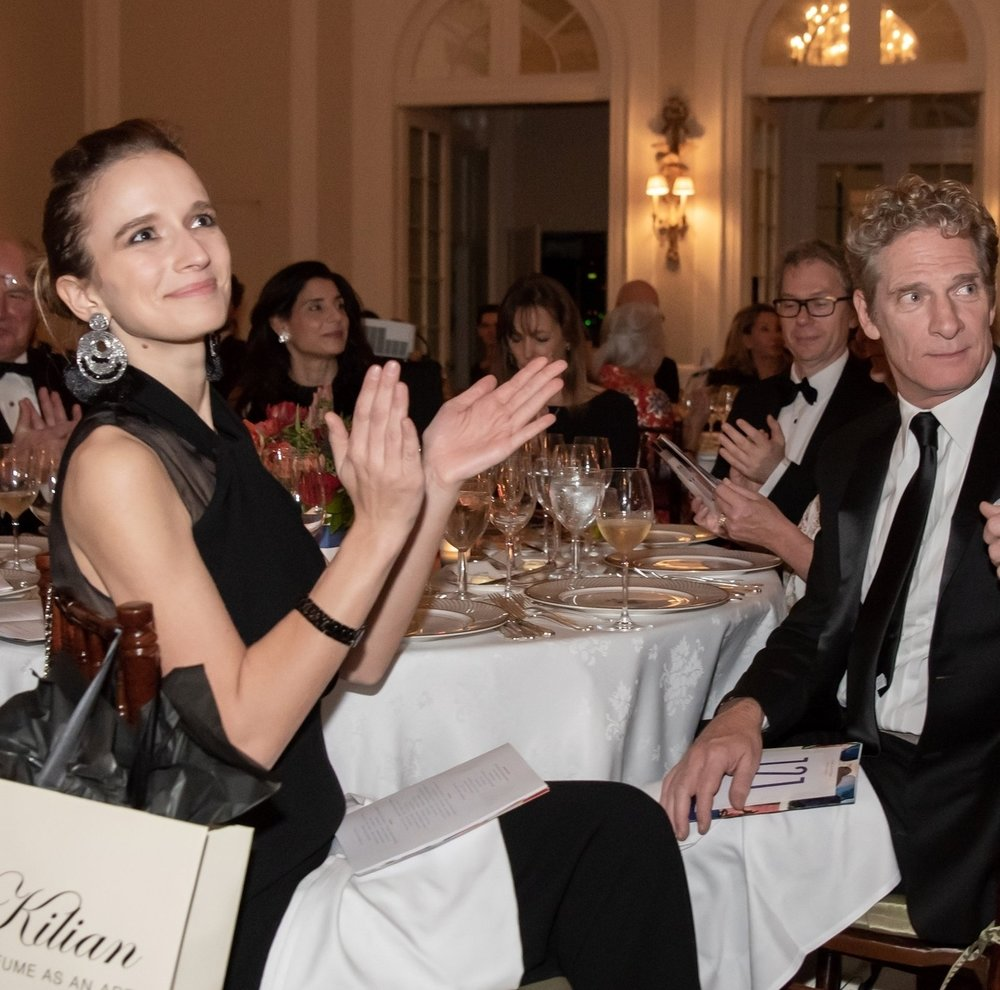Kristin Simmons, Kimball Higgs at Annual Gala Dinner of American Friends of Blérancourt  at Private Club in New York on 11/09/2018 (photo by Annie Watt Agency / Sipa USA