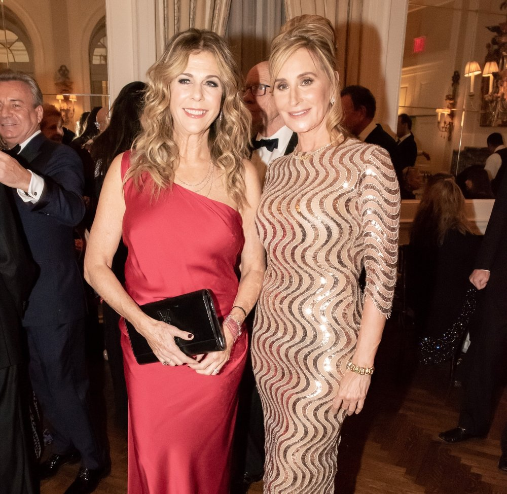 Rita Wilson, Sonja Tremont-Morgan at Annual Gala Dinner of American Friends of Blérancourt  at Private Club in New York on 11/09/2018 (photo by Annie Watt Agency / Sipa USA