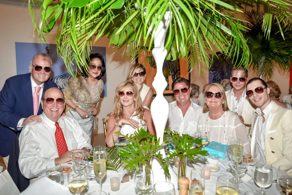 Winning Table of photo contest at American Friends of Blérancourt's Diner en Blanc at Fritz Gallery in Palm Beach on 02/20/2019