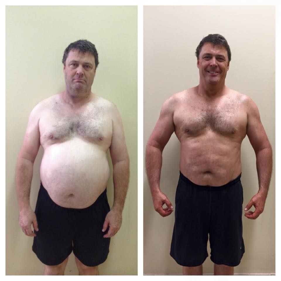 "Chris: Before and After   ""I've lost weight!  It's been quite a difficult battle (and it continues!) this time around, but there's no way I could have done it without the help of my friend So, publicly, here's a HUGE ""YOURE AMAZING"" to my friend and fitness guru Hollis Liebman!""  — Chris Hobbs"