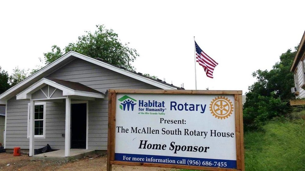 This home was build through the generous donation from the McAllen South Rotary Club.