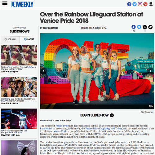 Pride Merchandise Design   Our Holographic Pride tees & croptops sold online across the US. The campaign was featured by LA Weekly & landed a collaboration with San Diego Pride.