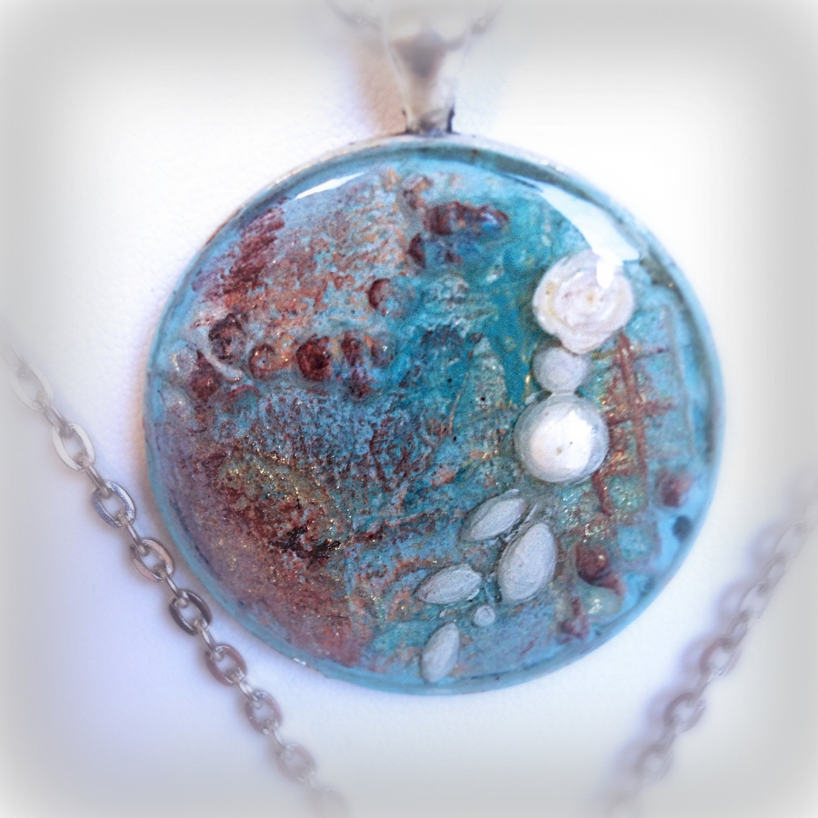 Original Painting Pendant; The Bridal Collection