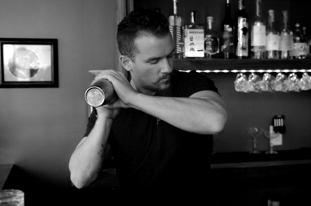 Paul Blumer shakes your drink at  Rogue RVA