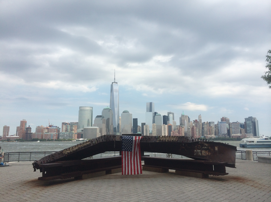 September 11th memorial at Exchange Place in Downtown Jersey City