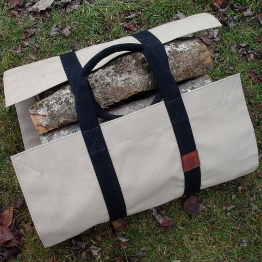 Canvas Firewood Tote
