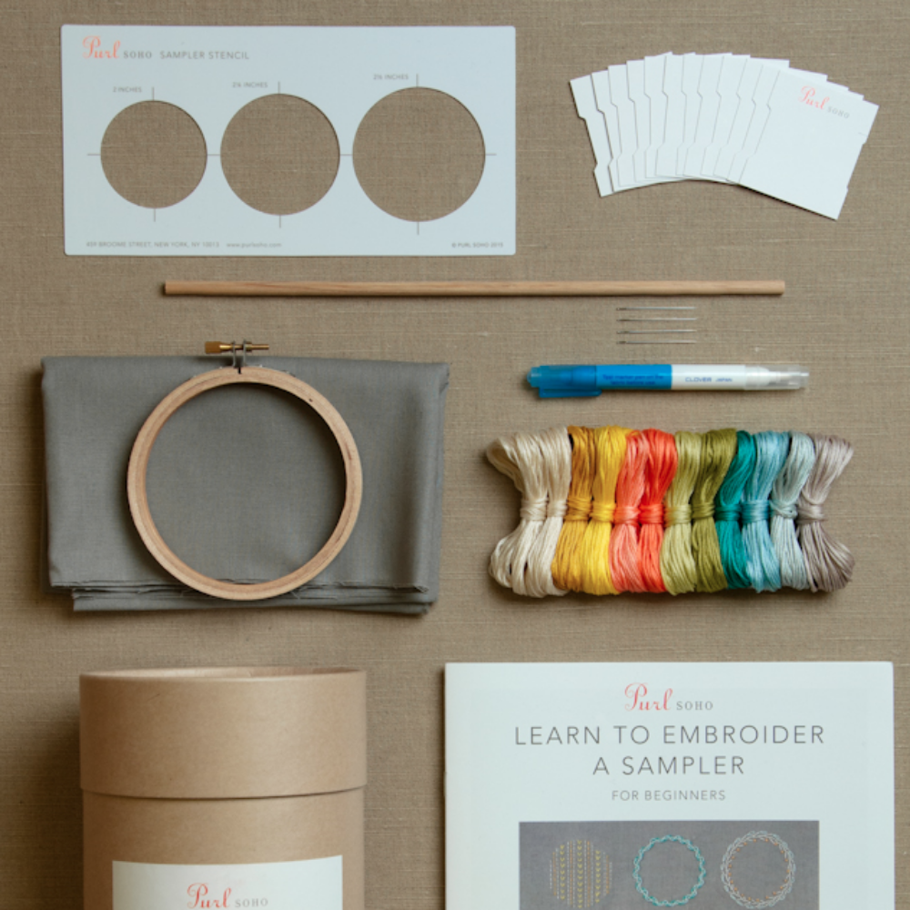 Learn to Embroider a Sampler Kit
