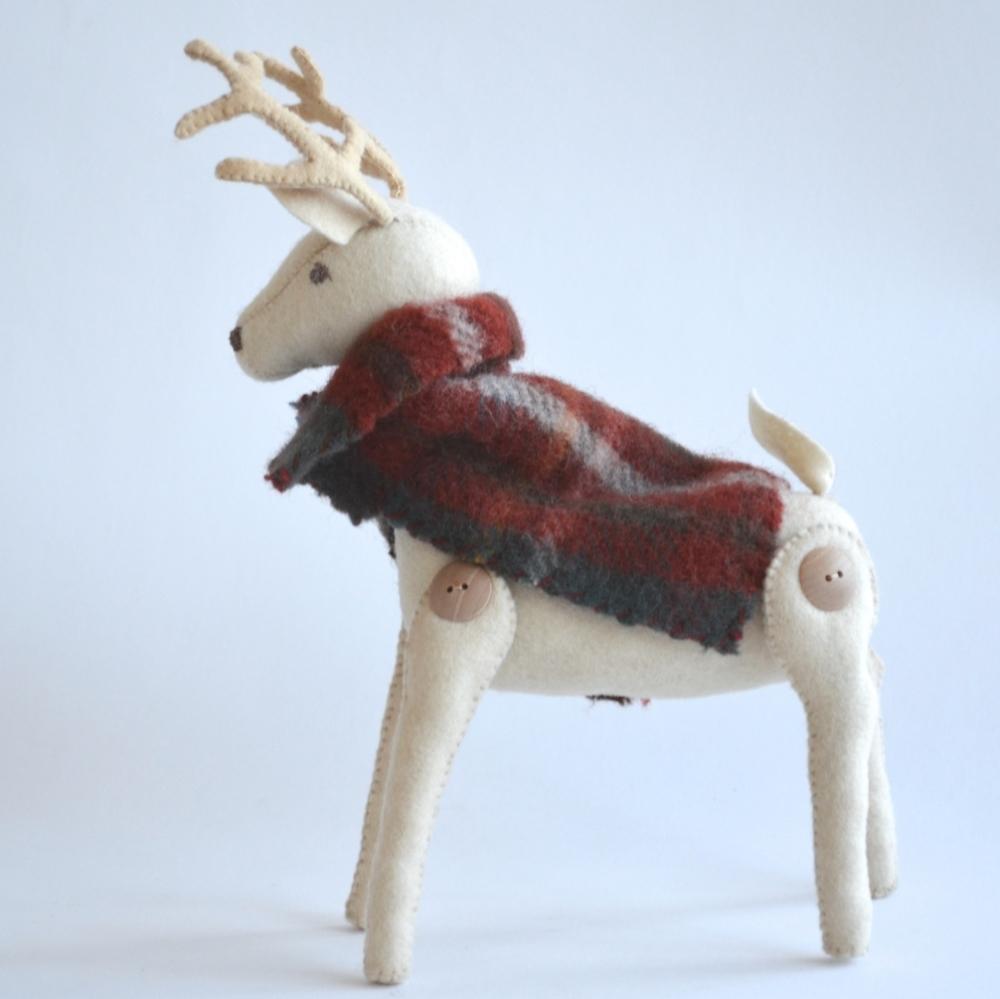 Handcrafted Woodland Buck