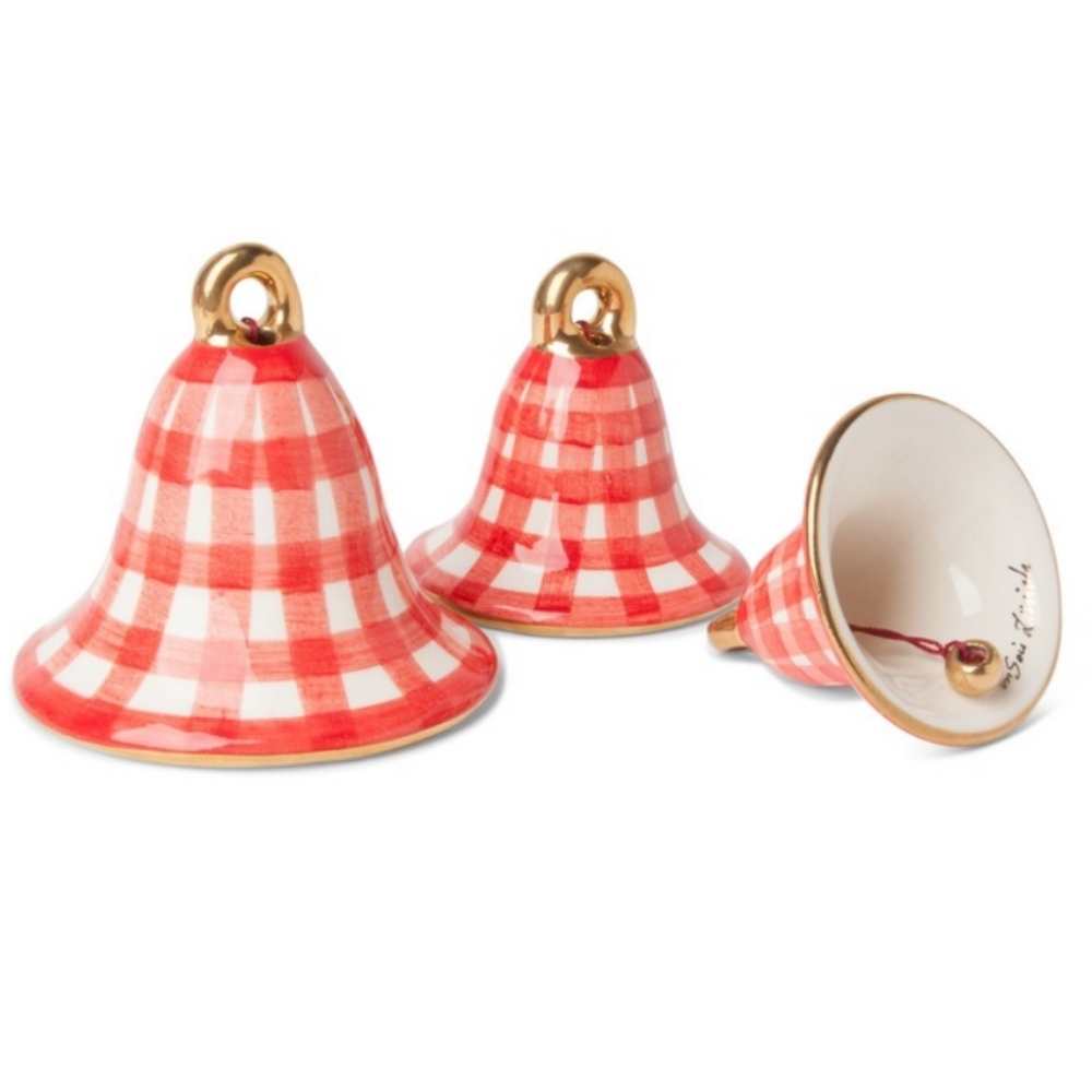 Gingham Bell Ornament