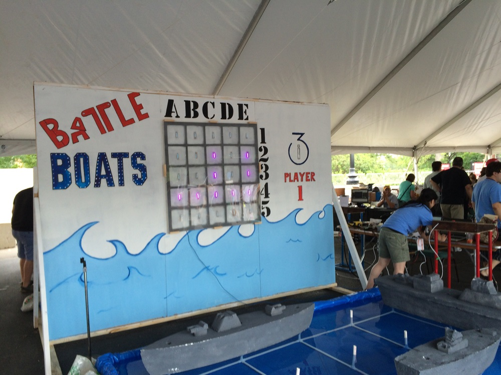 Battle Boats by i3 at 2015 Detroit Maker Faire.