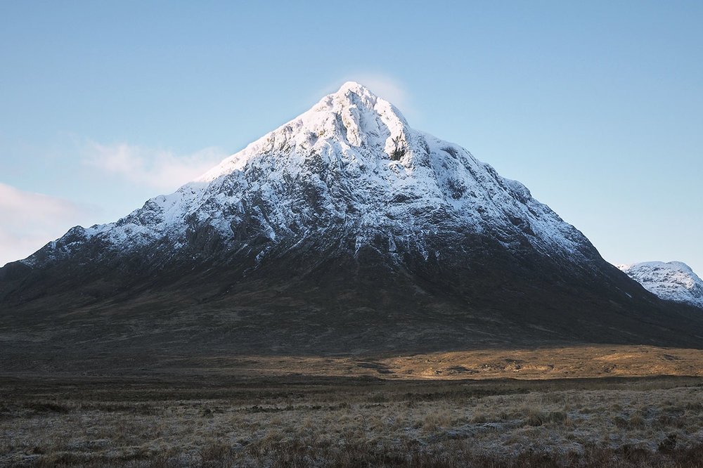 Buachaille Etive Mor or in English: The Big Herdsman of Etive. Surely no mountain in Scotland is so recognisable, so impressive a guardian of the land around it. For me it marks the end of civilisation in the British Isles. From here on out its raw Scottish mountains until the far north-west coast meets the rough waters of the Atlantic.