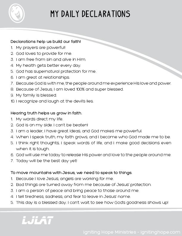 Kids Declarations