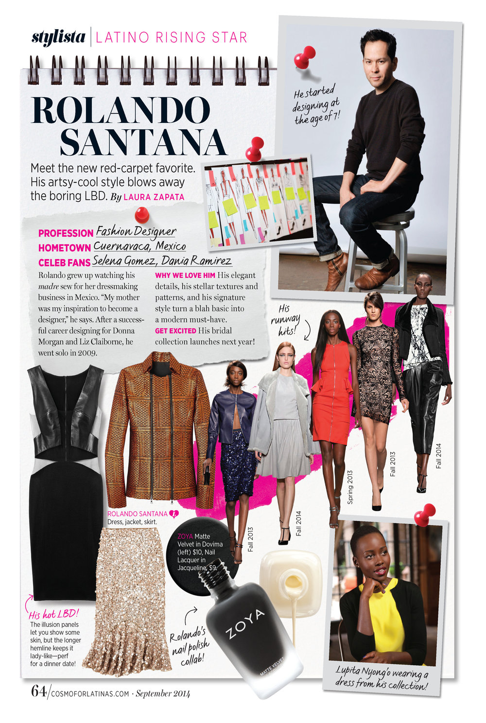 """Fashion Editor Column: """"Latino Rising Stars"""" (FOB) -  Cosmo for Latinas"""