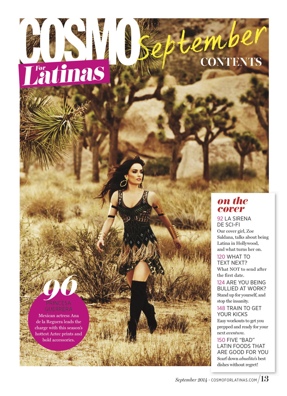 Cosmo for Latinas Magazine - Ana de la Reguera