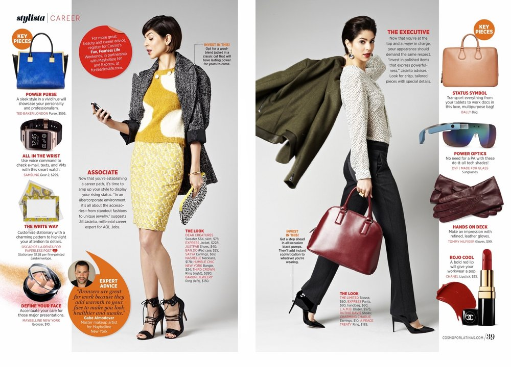 Fashion Editor & Stylist, Career/Service Story (FOB) -  Cosmo for Latinas .