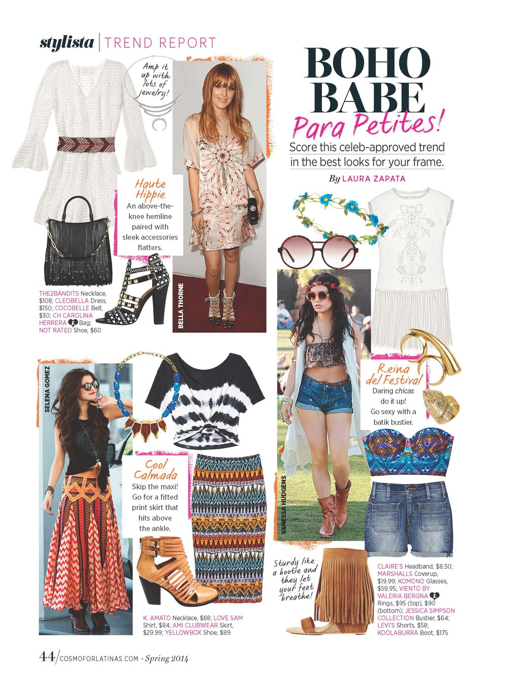 Trend Direction & Fashion Editor, FOB Trend Report -  Cosmo for Latinas.