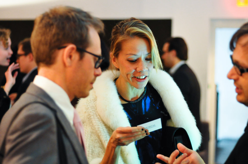 Each Future of Fashion event included a networking cocktail hour.