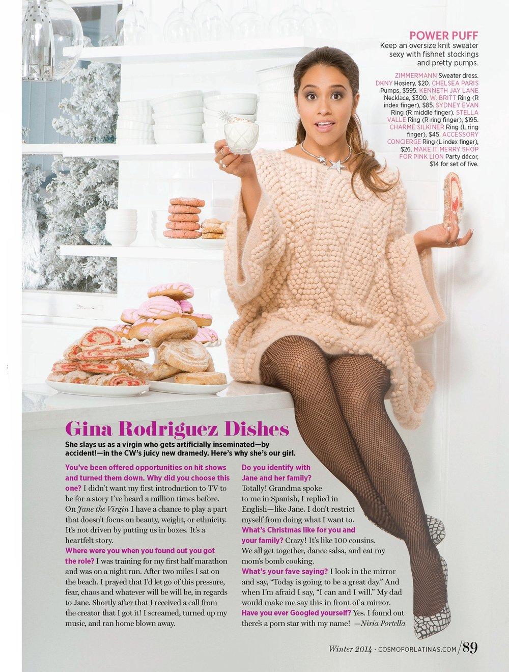 Cosmo for Latinas Magazine, Celebrity Fashion Feature (Gina Rodriguez). Photo: Sheryl Nields.
