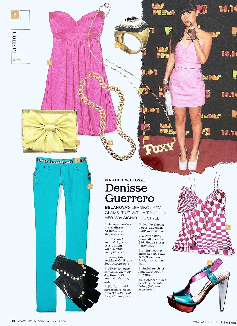 Contributing Fashion Market Editor (FOB) -  Latina  Magazine.
