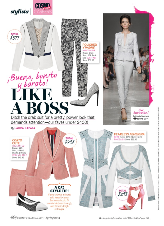 Fashion Editor,  FOB Budget/Service Story -  Cosmo for Latinas .