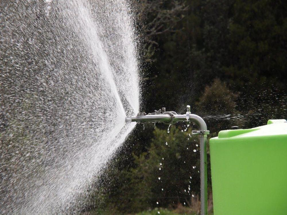 Cyclone Multi-Task Trailer Sprayer close up of spray nozzle