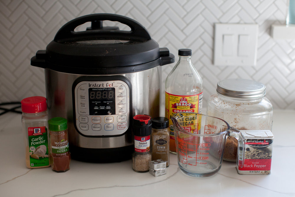 Easy Instant Pot Pork Tacos Ingredients