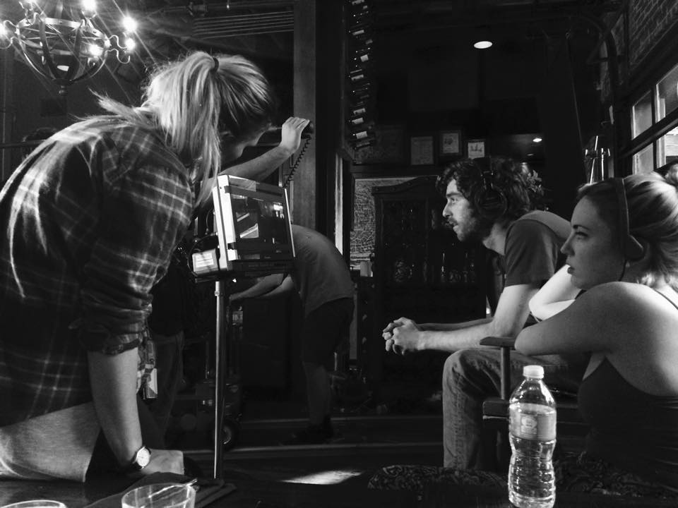 Director DAN LEVY DAGERMAN and Producer SELINA RINGEL on set of SWITCH HITTER