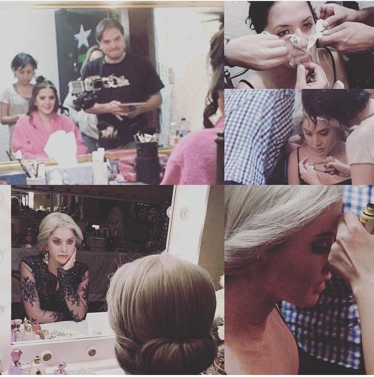 4 Looks, 24 hrs, 10 hrs Make Up - pictured: Actress IVANA De Maria & Make Up Artist FERNANDO LEBRIJA