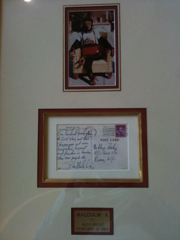 Malcolm X Signed Postcard addressed to Alex Haley, February 19, 1965