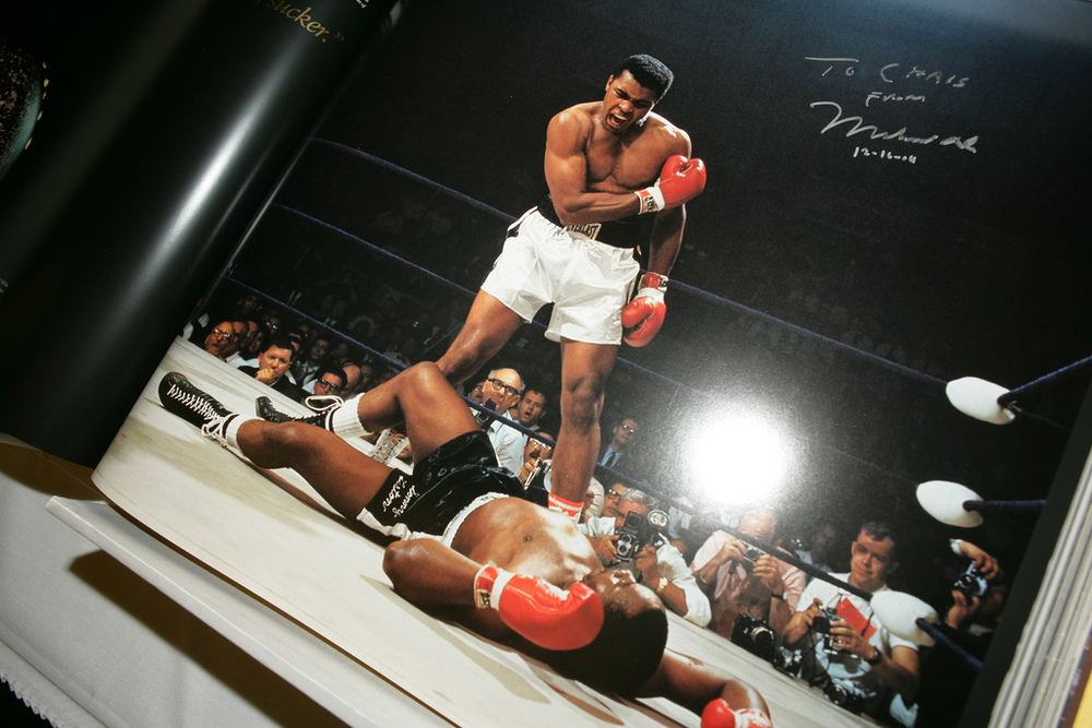 GOAT Book Autographed by Muhammad Ali, 2005