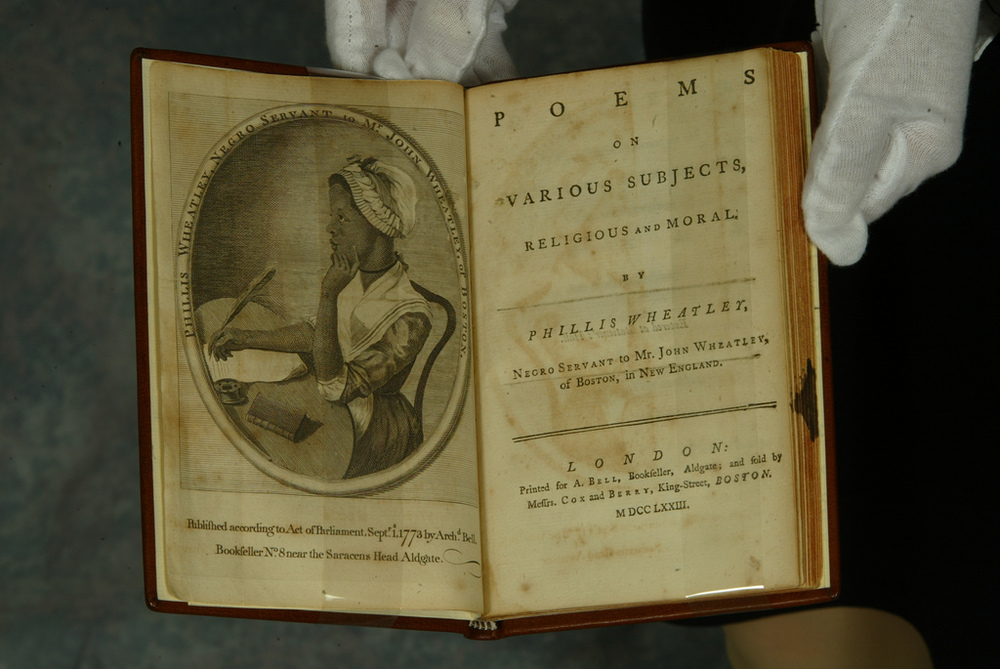Phillis Wheatley, Poems on Various Subjects, Religious and Moral, First edition, London, 1773
