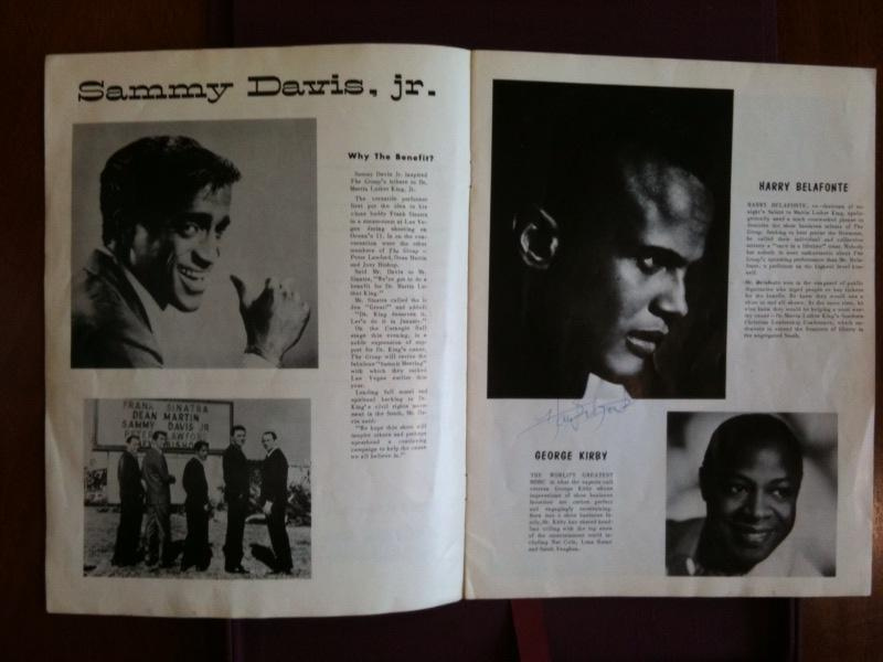 """Dr. Martin Luther King Jr. Signed Program, """"A Tribute to Dr. Martin Luther King Jr.;"""" Also signed by Sidney Poitier and Harry Belafonte, January 27 1961"""