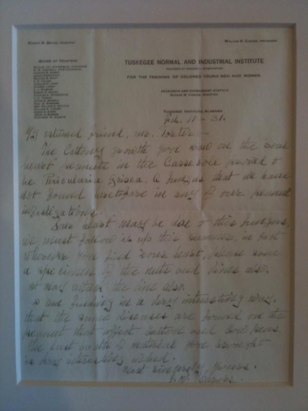 George Washington Carver Signed letter on Tuskegee Institute Letterhead, February 11, 1931