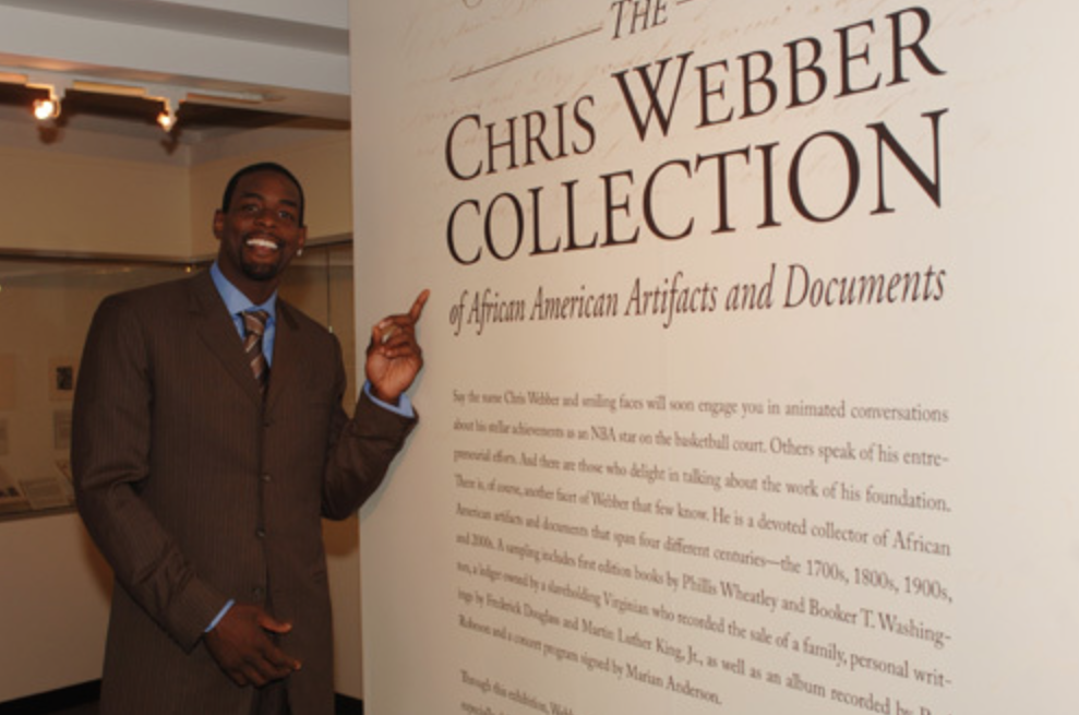 Chris at The Chris Webber Collection opening