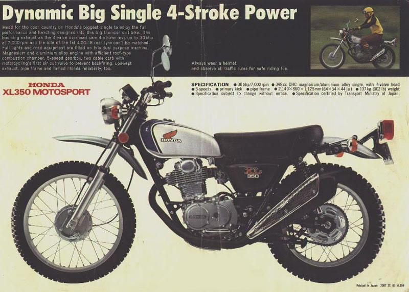 Benny Ryerson - Shaman Special - 74 HONDA XL 350
