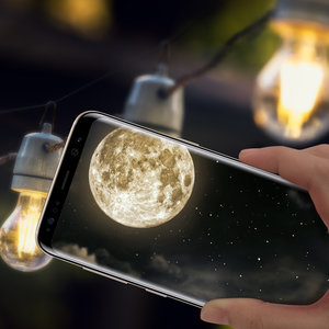 samsungmobile  An out-of-this-world view, right in the palm of your hand.  #GalaxyS8
