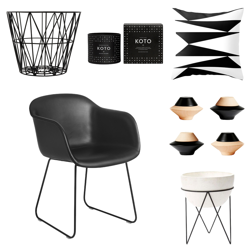 How To Decorate With Black + White