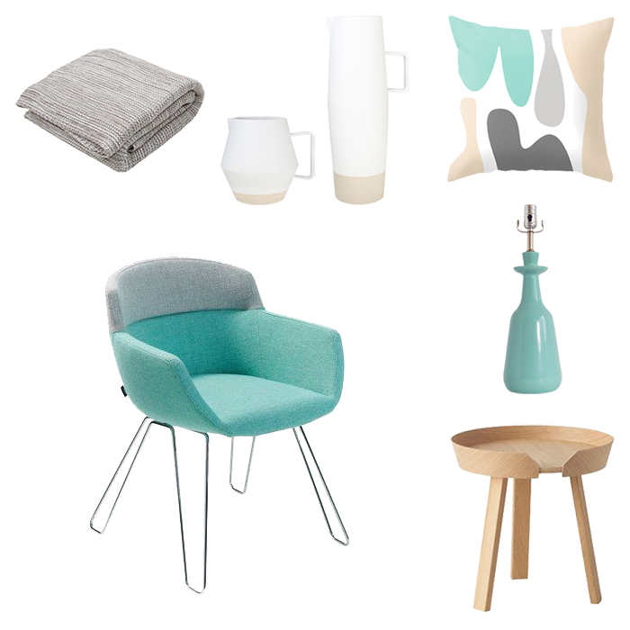 turquoise furnishings and decor