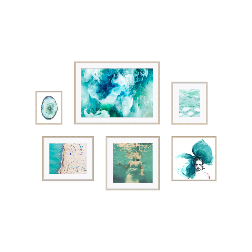 Artist Credit: Claudia Chloe, Diana Kuksa, Elle Moss, Watercolor Paperie, Jessica Kenyon Studio, Emily Magone Framing Credit: Framebridge