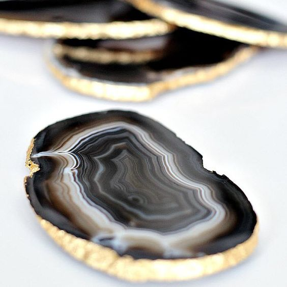 Times Two Design Agate Coasters  - Candelabra