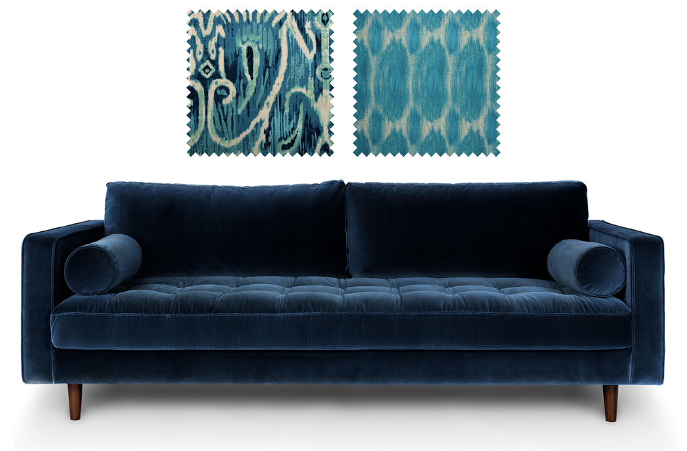 Sven Sofa from Bryght  +  Fabrics from Duralee