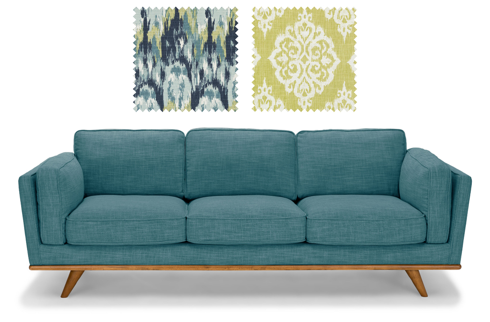 Timber Sofa from Bryght  +  Fabrics from Duralee
