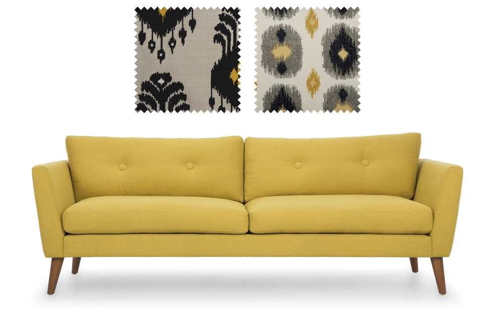 Emil Sofa from Bryght  +  Fabrics from Duralee