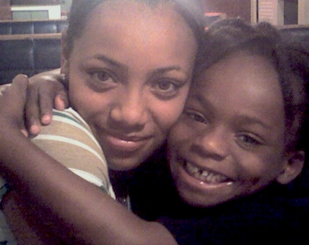 Ashley and her brother in 2007