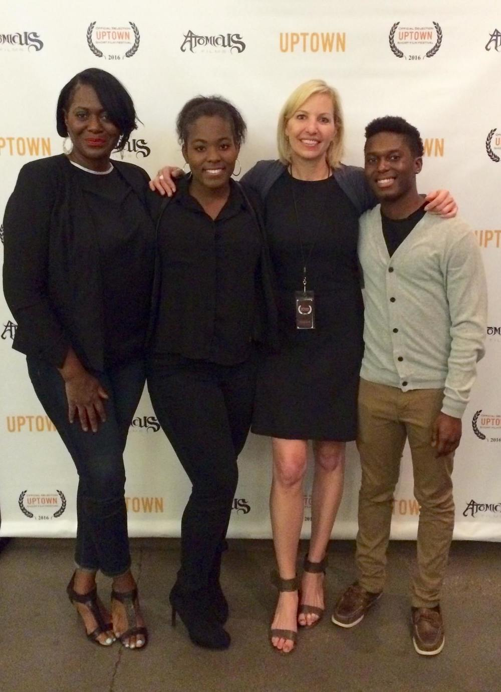 From left, Michelle Thomas, Angelica Flowers, Kelly Amis and Zachary Dorcinville.